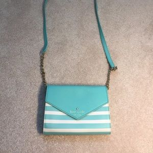 kate spade Bags - Blue and white striped Kate Spade bag